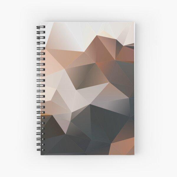 Polygon Brown Spiral Notebook