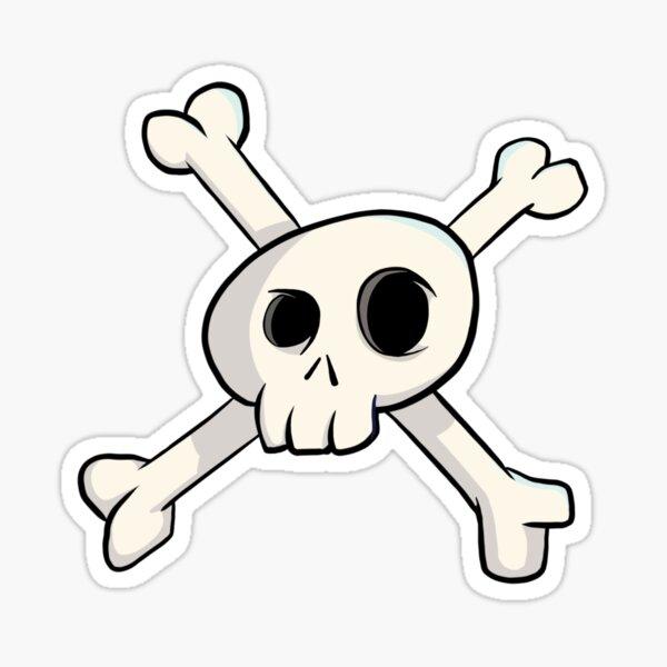 Cartoon skull crossbones Sticker