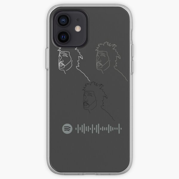 trilogy inspired illustration - with Spotify code iPhone Soft Case