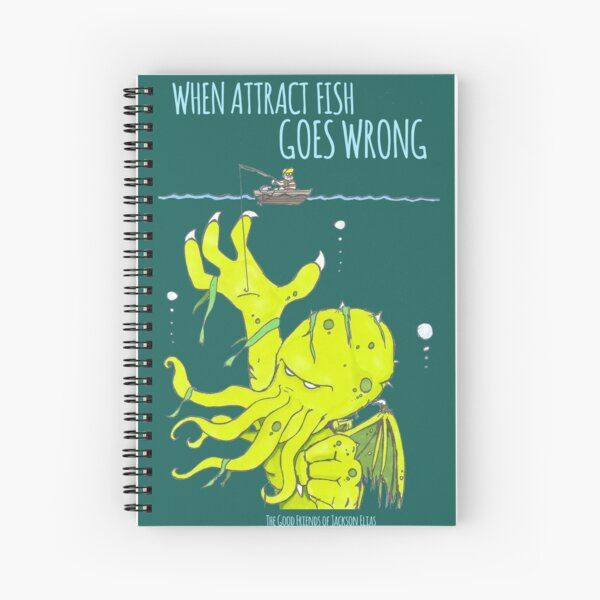 When Attract Fish Goes Wrong (2) Spiral Notebook