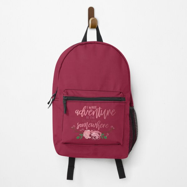 Belle Quote - I Want Adventure In The Great Wide Somewhere Backpack