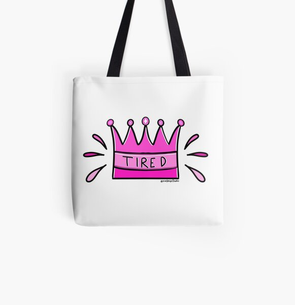 Tired Queen All Over Print Tote Bag