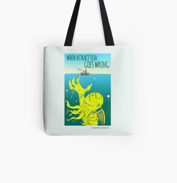 Attract Fish (3) All Over Print Tote Bag