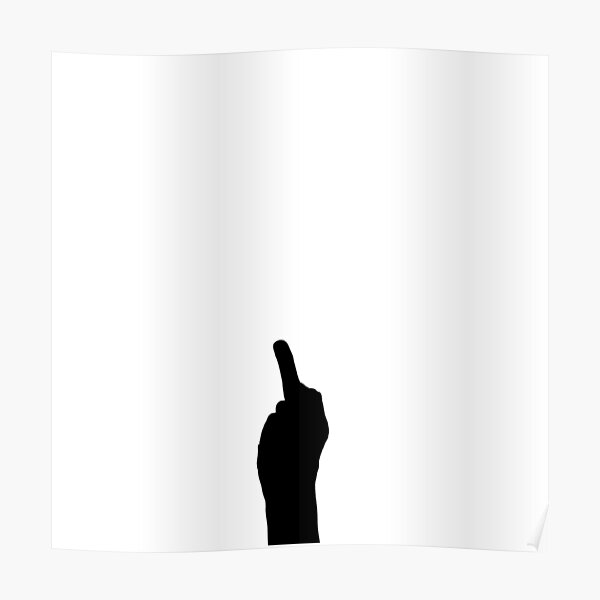 Aesthetic Middle Finger Hand On Red Background Poster By Ckyzzi Redbubble