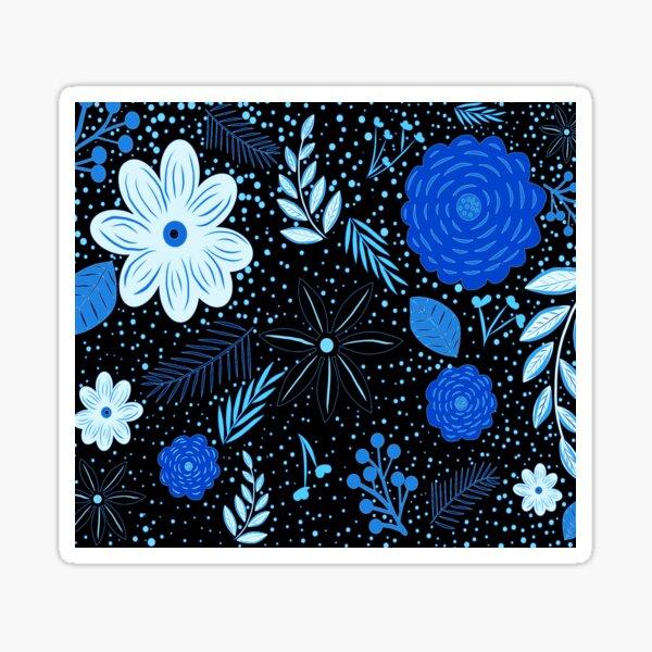 Iconic Floral print Black Ice Sticker