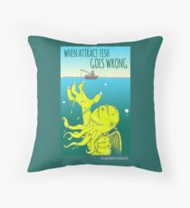 When Attract Fish Goes Wrong (4) Throw Pillow