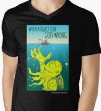 When Attract Fish Goes Wrong (4) Men's V-Neck T-Shirt