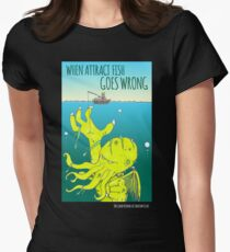 When Attract Fish Goes Wrong (4) Women's Fitted T-Shirt