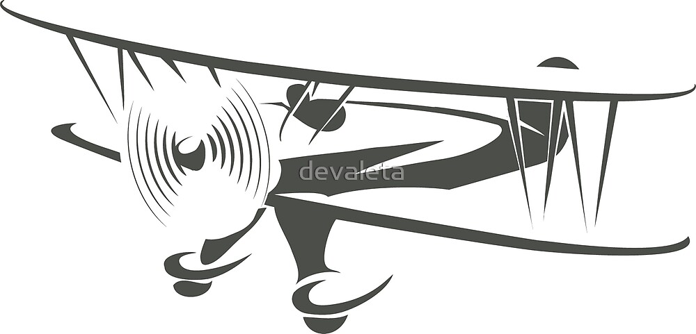 Retro Airplane Emblem  by devaleta