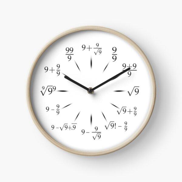 Nerdy Math Clock with all Nines Clock