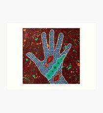 Paint My Hand 22 Art Print