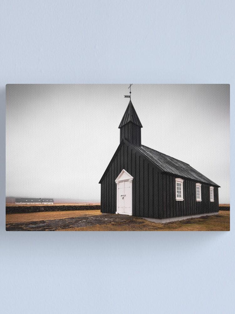 Alternate view of Black Church, Iceland Canvas Print