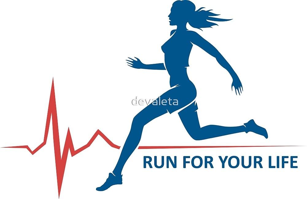 Healthy Run Emblem by devaleta