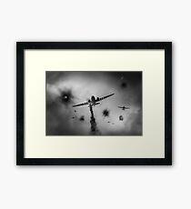 Dakotas at Arnhem, black and white version Framed Print