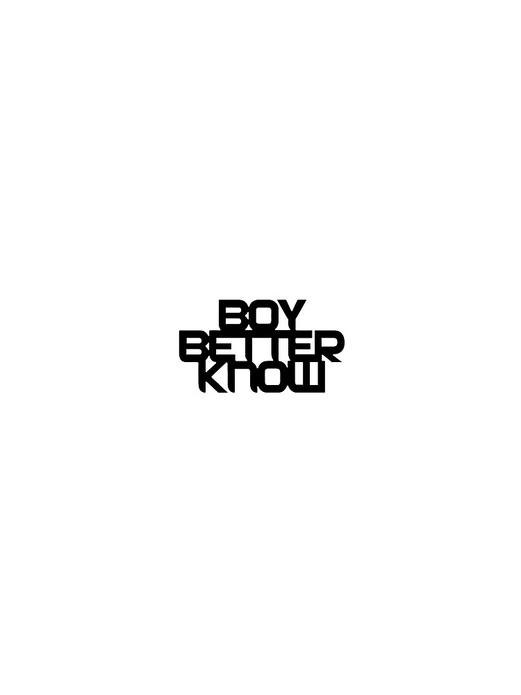 BoyBetterKnow T-shirt White by BrokeBoi