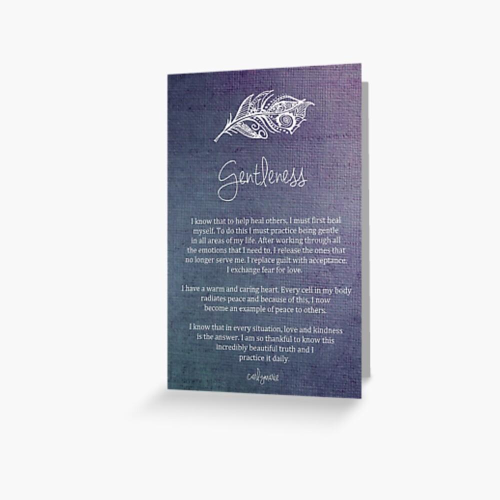 Affirmation - Gentleness Greeting Card
