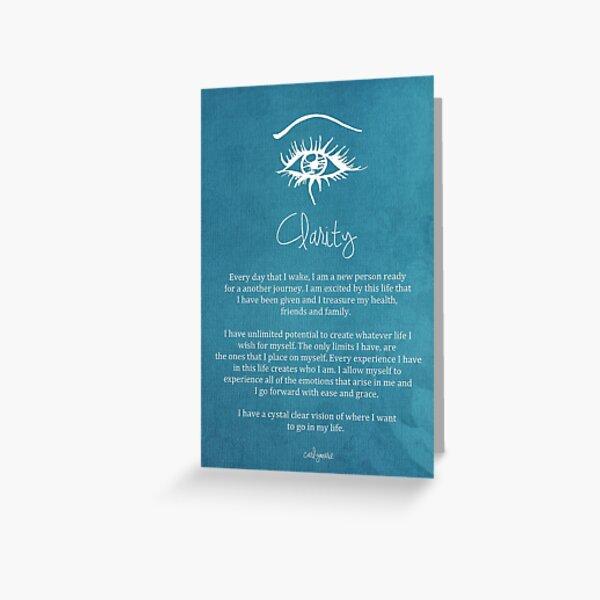 Affirmation - Clarity Greeting Card