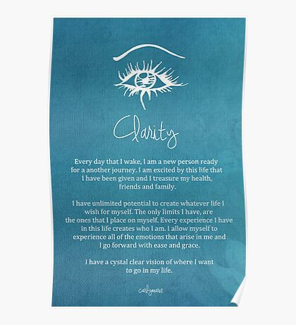 Affirmation - Clarity Poster