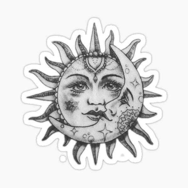 Sun and moon  Sticker