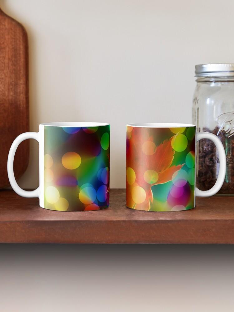Alternate view of Seasonal Leaf & Lights Mug