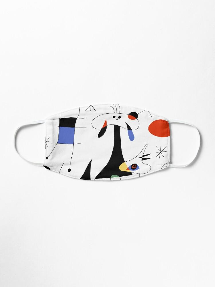 Alternate view of Joan Miro The Sun (El Sol) 1949 Painting Artwork For Prints Posters Tshirts Bags Women Men Kids Mask