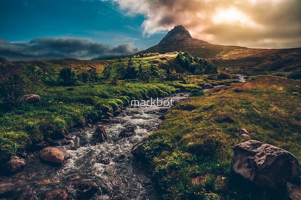 Mountain stream in Súðavík by markbot
