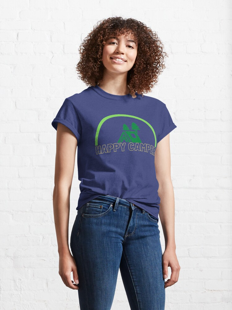 Alternate view of Happy Camper - Let's go Camping! Classic T-Shirt