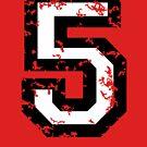 Number Five - No. 5 (two-color) white von theshirtshops
