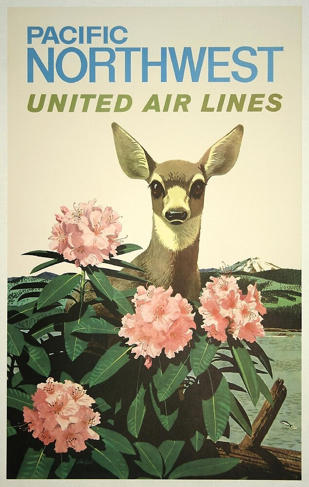 Vintage poster - Pacific Northwest by mosfunky