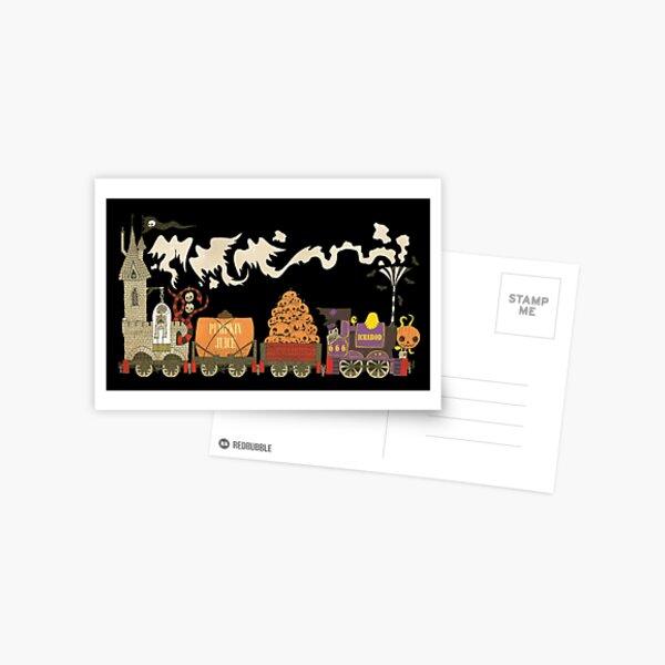 Ichabod the Ghost Train Postcard