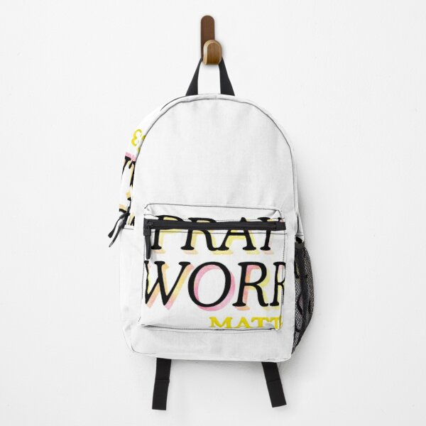 Pray More Worry Less Bible Backpack