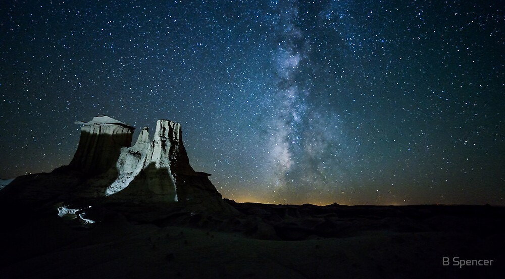 Badlands Milky Way by B Spencer