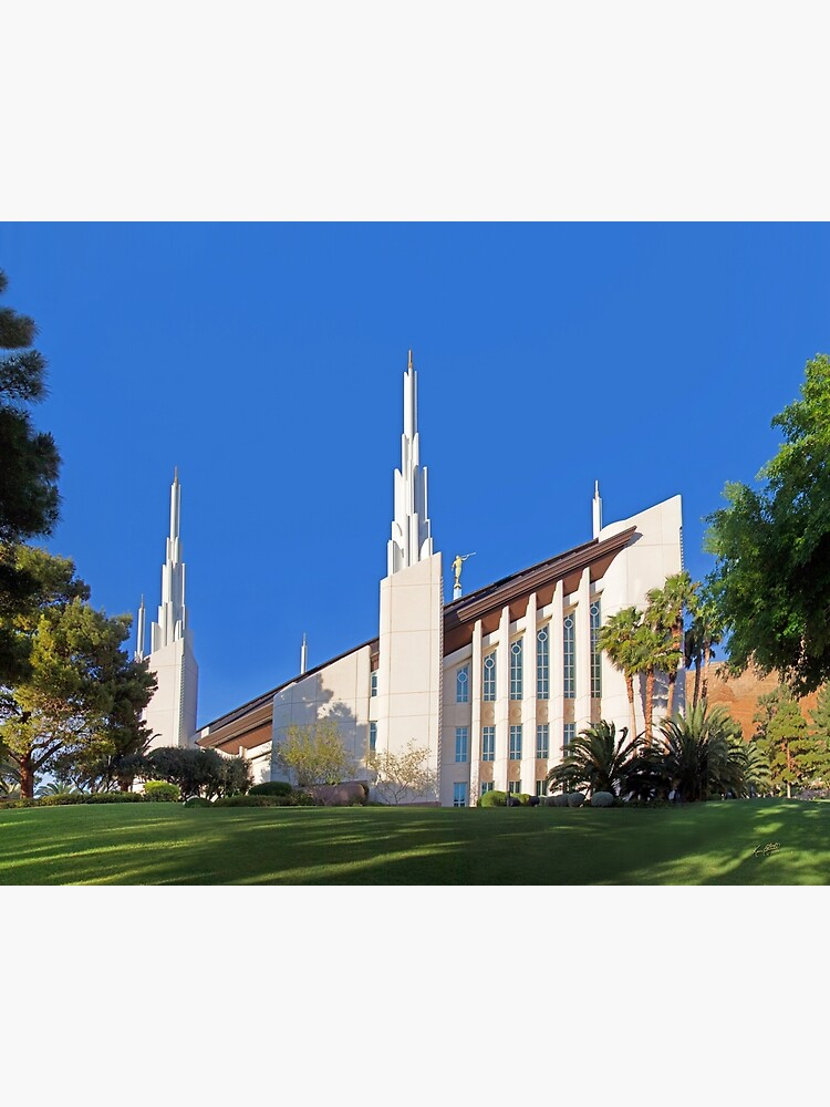 Las Vegas Nevada Temple Between The Trees 24x20 Postcard By Kenfortie Redbubble