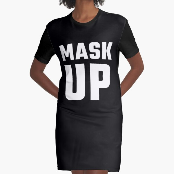 Wear Your Mask! Graphic T-Shirt Dress