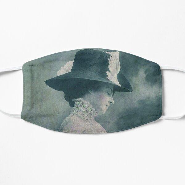 A Lady Ponders Flat Mask