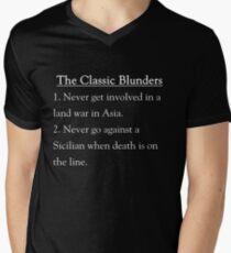 The Classic Blunders Men's V-Neck T-Shirt