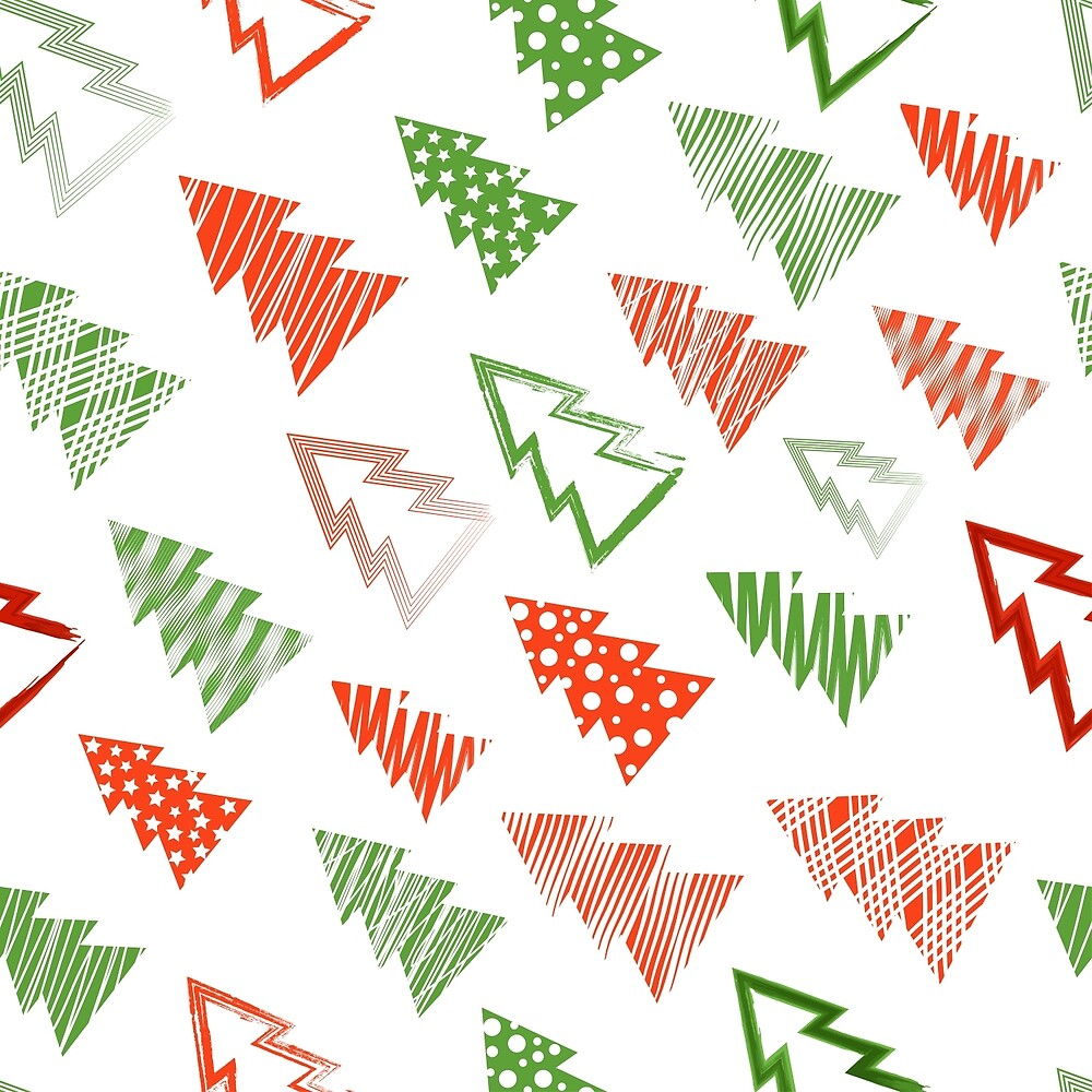 Christmas and New Year seamless pattern by vkulieva