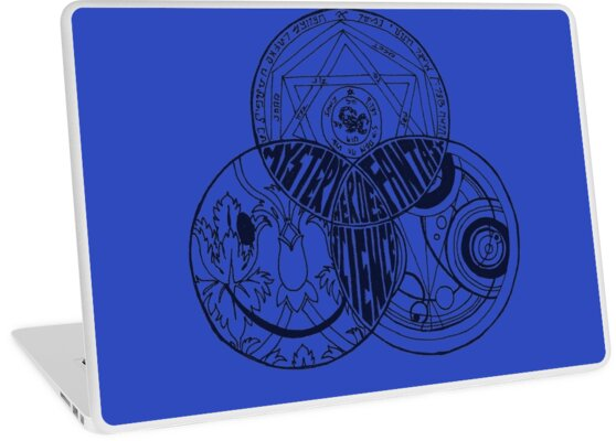 Superwholock Venn Diagram Transparent Laptop Skins By Ksshartel