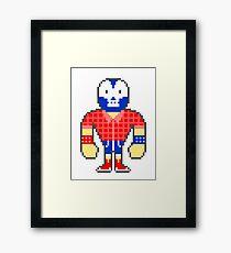 Pixel Luchador - Lumberjack Framed Print