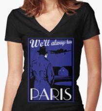 Camiseta entallada de cuello en V Catharsis tres: siempre tendremos París