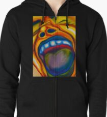 Screaming Man Zipped Hoodie