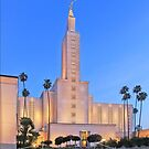 Los Vegas California Temple - Front Stairs 16x20 by Ken Fortie