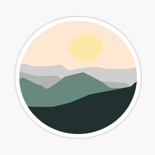 Teal Sunrise Sticker