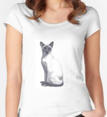 Siamese Cat Women's Fitted Scoop T-Shirt
