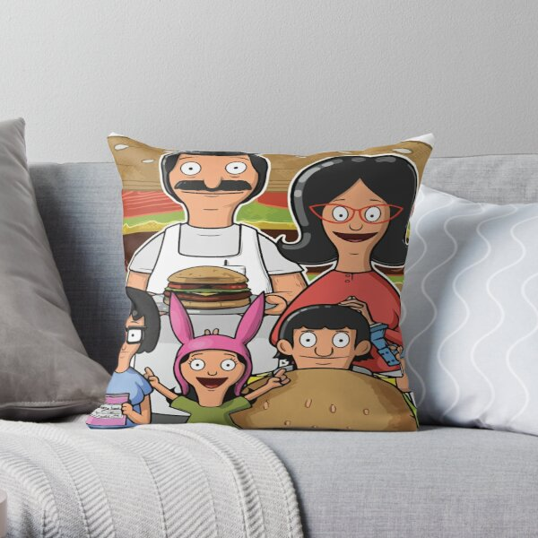 bobes family burger Graphic T Shirt  Throw Pillow