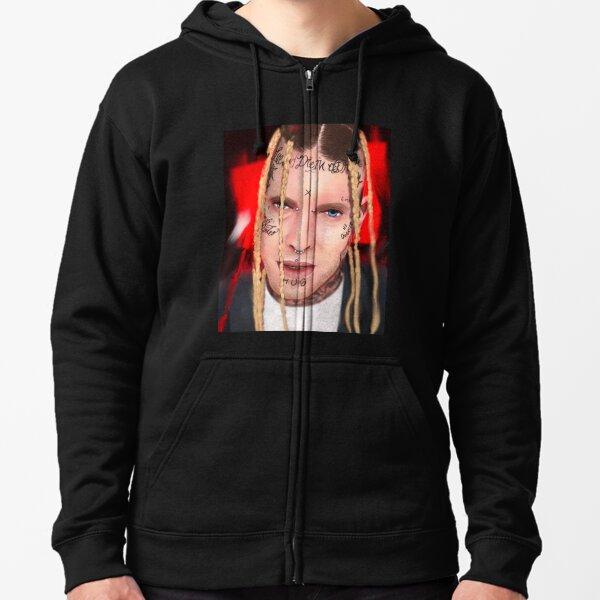 White Boy, rapper, artist, male, portrait, face, tattoos,rap, music Zipped Hoodie