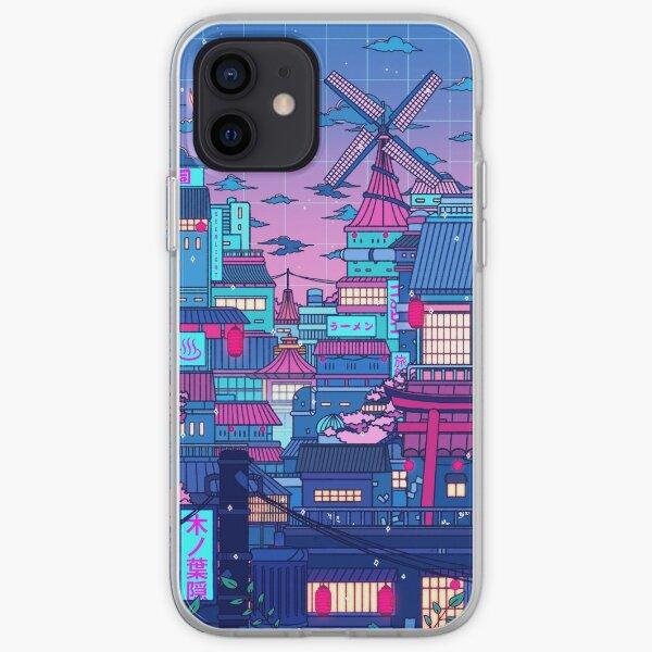 Cyberpunk Village iPhone Soft Case