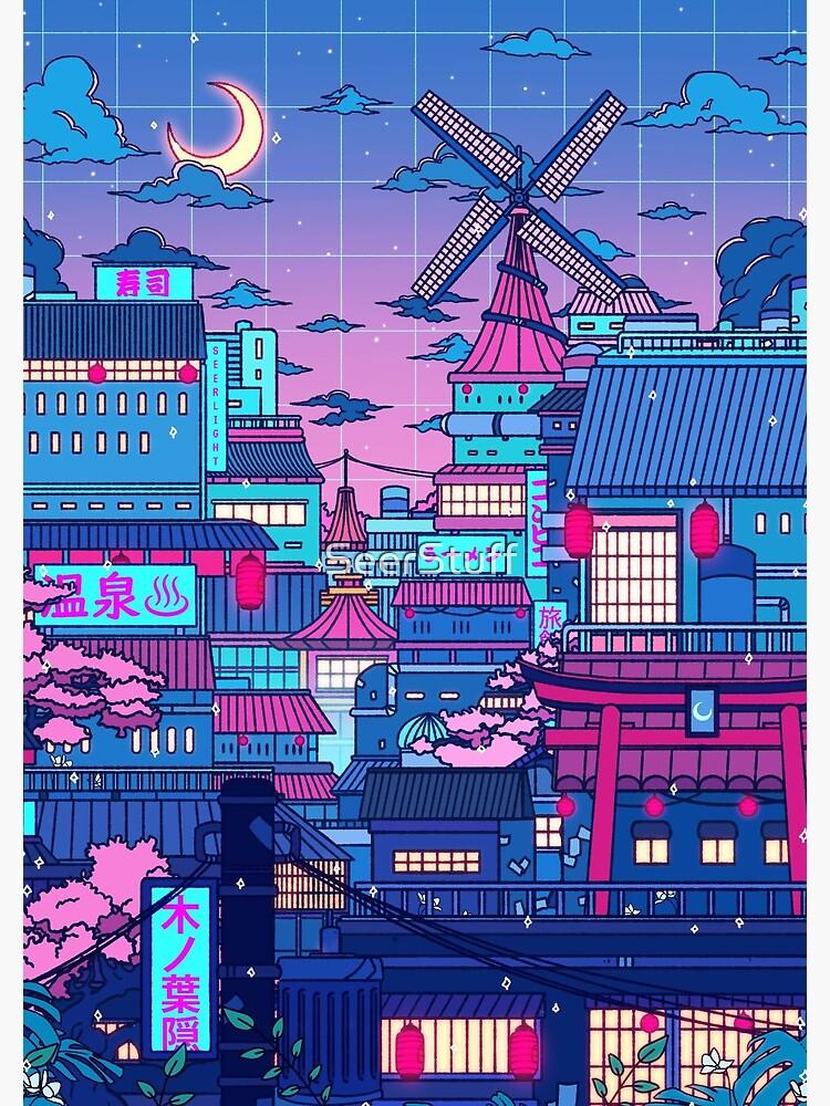 Cyberpunk Village by SeerStuff