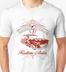 Smoke and Flames Kustom Auto Unisex T-Shirt