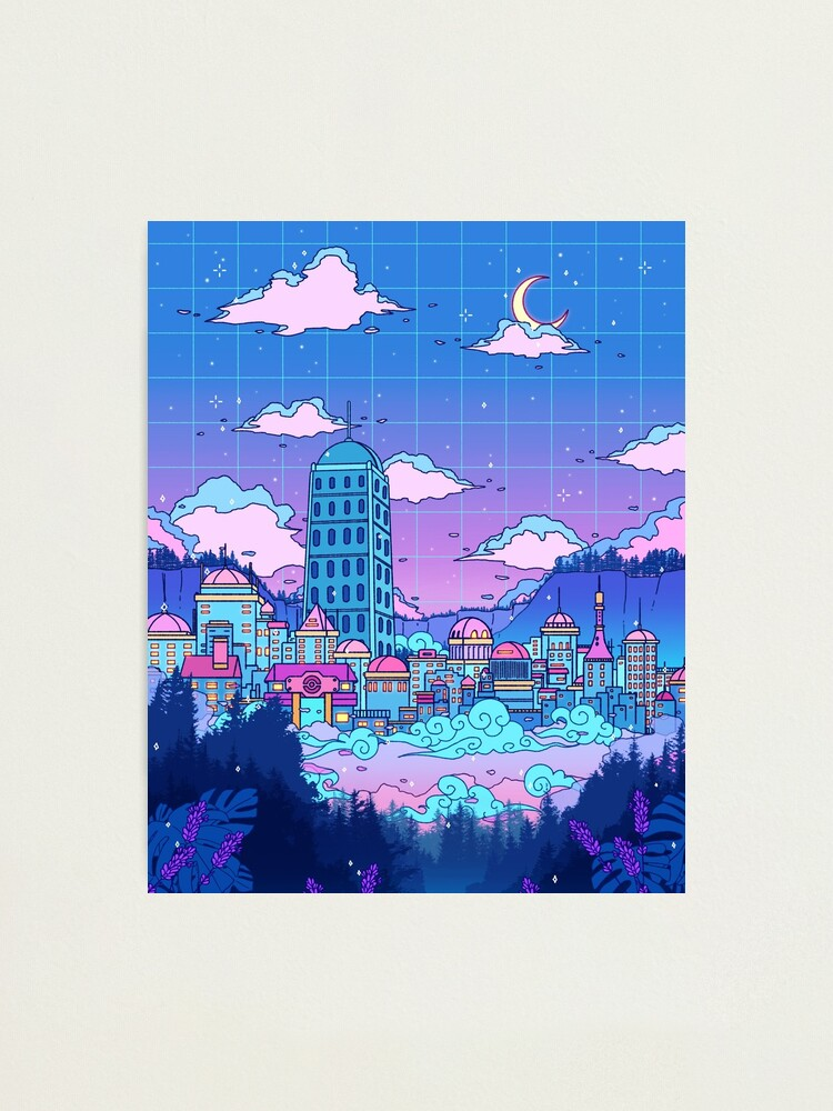 Alternate view of Lavender Town Photographic Print
